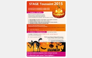 STAGES TOUSSAINT 2015